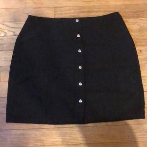 Forever 21   Velvet Button Up Skirt